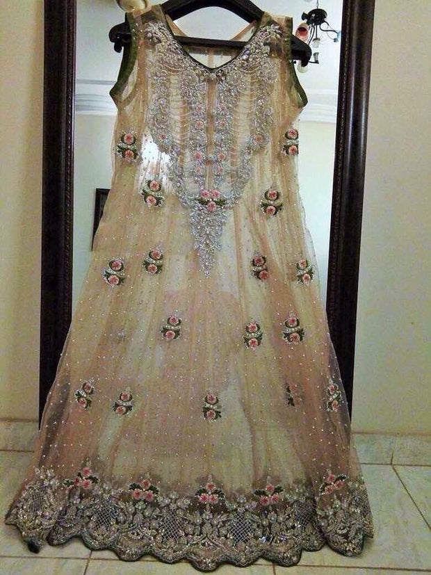Wedding party dress nagh cutwork dabka and threds work Model # P 183