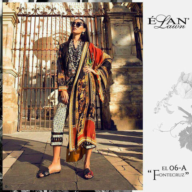 Lawn dress by elan M#L 123