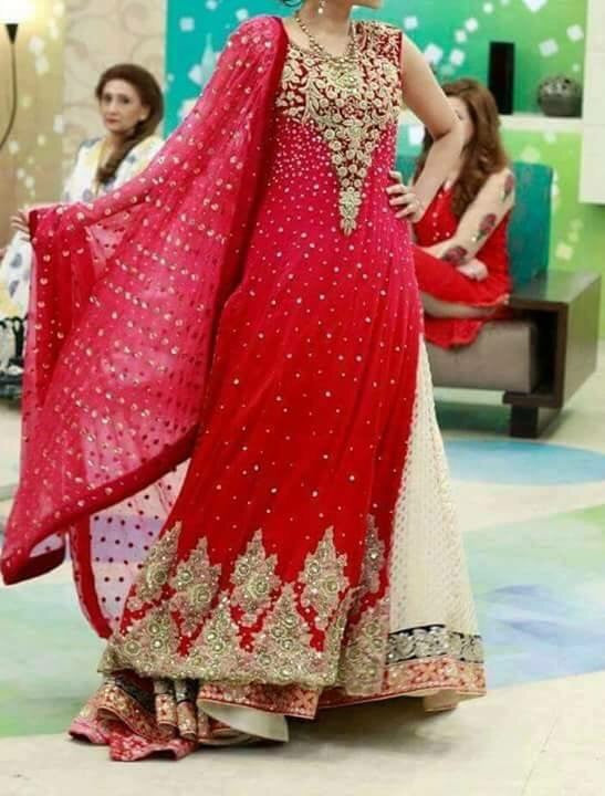 Wedding party dress with dabka and nagh work Model # 238