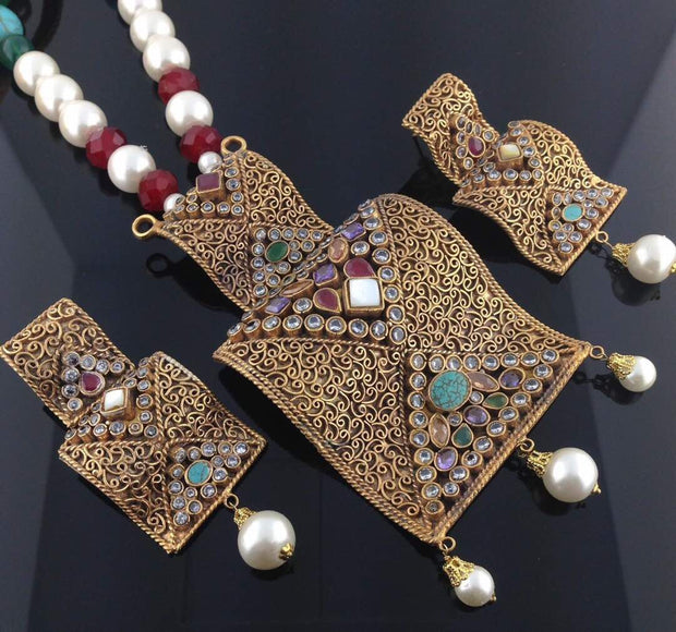 Kundan necklace and earrings set Model #K 1