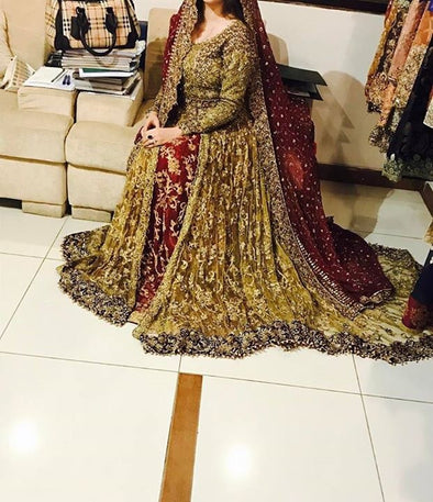 Wedding bridal lahngazari nagh pearls and sequance work M#B 152