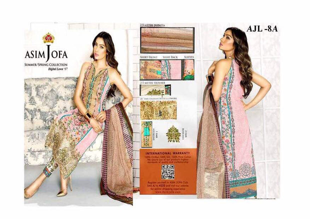 Lawn dress by asim jofa M#L 94
