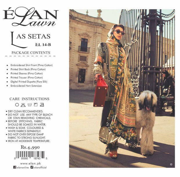 Lawn dress by elan M#L 122