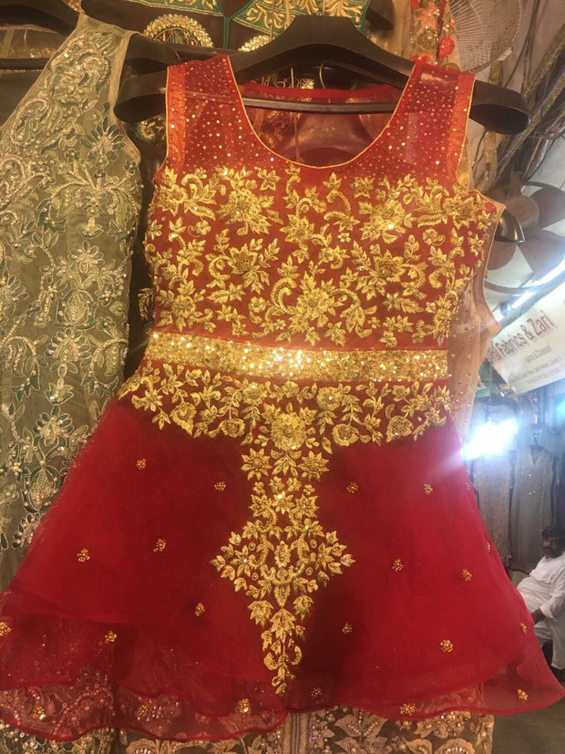 Beautifull wedding party paplam in red and golden color