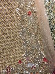 Wedding party dress Model dabka threads work nagh and pearls work Model # P 189
