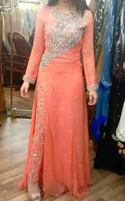 Wedding party dress dabka and nagh work Model #P 177