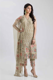 Beautiful Indian chiffon dress in lavish brown color