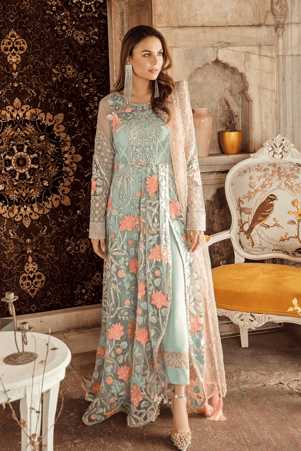 Indian Party Dress Appealing Light Blue Color