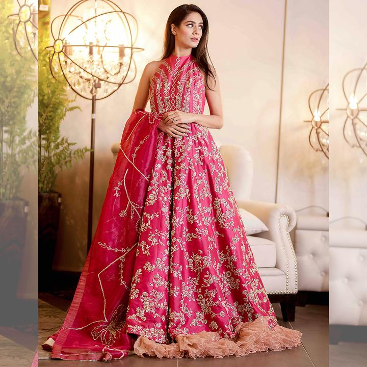 Indian Wedding Reception Food Menu: Buy Hot Pink Indian Reception Dress For Bride Online 2019