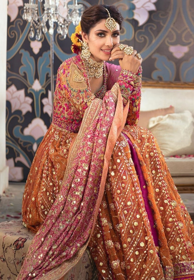 Kalidaar Heavy Embroidered Bridal Lehenga 2