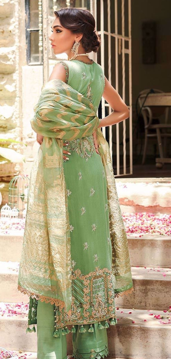 Classy Pakistani party wear dress with price 2
