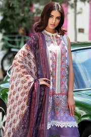 Latest Pakistani printed lawn outfit 2020 in elegant lavender color # E2218