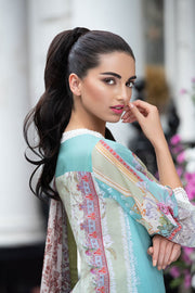 Latest Pakistani printed lawn outfit 2020 online in elegant light color