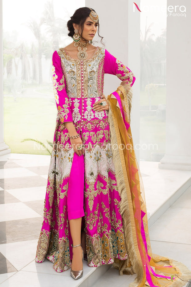 magenta color dresses pakistani Online