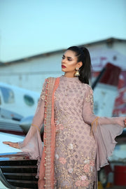 Elegant Eid Dress in Soft lavender 2