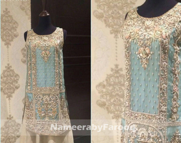 Party Dress with Dabka Nugh & Pearl Work