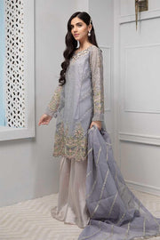 Stylish gharara dress Pakistani in lavish lilac blue color # P2228