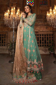 Stylish Pakistani dress for event wear in aquamarine color # P2247