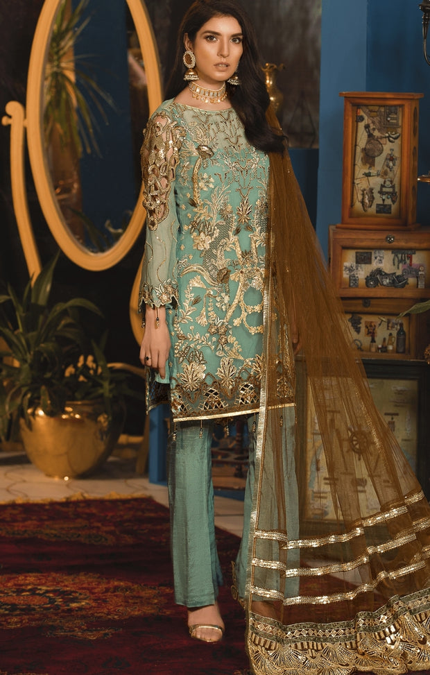 Pakistani suit with pants for eid
