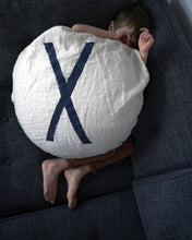 "Round Pillow with ""X"""