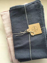 Linen Pillow Cases - Storm Grey with Stitching