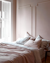 Two-Tone Linen Duvet, Blush/Chalk