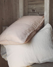 Linen Pillow Case - Chalk with Piping