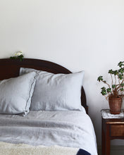 Linen Duvet, Pale Grey.