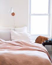 Linen Duvet Cover - Blush