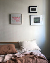 Two-Tone Linen Duvet, Blush/Desert Rose