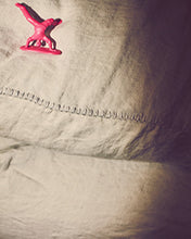Linen Pillow Case with Stitching