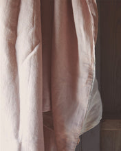 Two-Tone Linen Duvet Cover, Blush/Chalk