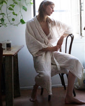 Full Length Linen Robe in Chalk