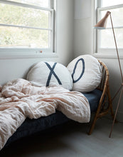 "Round Chalk Pillow with ""0"""