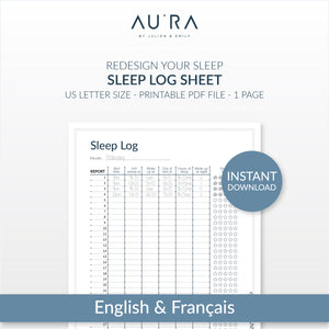 Sleep Log Sheet | Download and Print