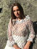 Adelaide, pretty in polka dots and perfect for any season of the year