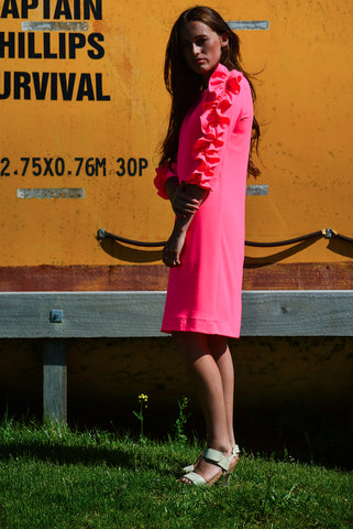 The Perfect Pacha - a stunning neon pink merino mix dress