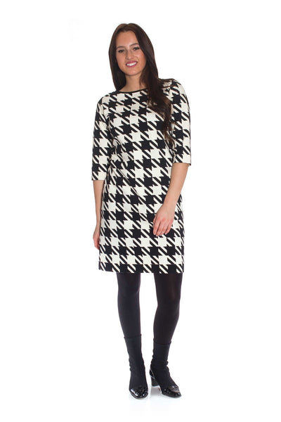 Chequerboard - the timeless and chic houndstooth check dress from claire bloom