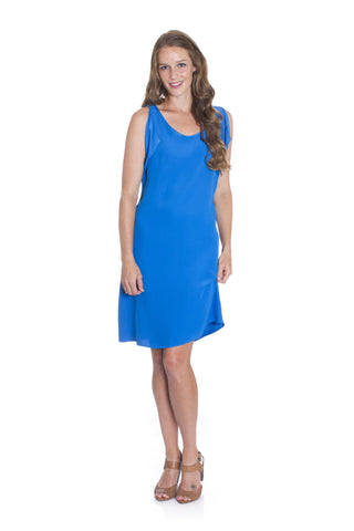 Honesty - a stunning eye catching blue dress, perfect for the races