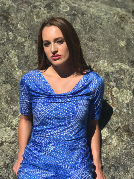 Elizabeth - a sexy and flattering little blue dress