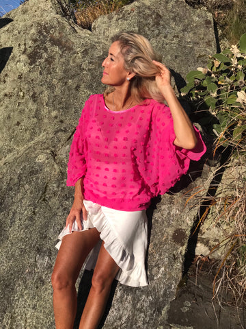 Pink Lady - a gorgeous and versatile top in pop out pink