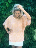 Salad Days - a pure silk top with delicious gold sequins