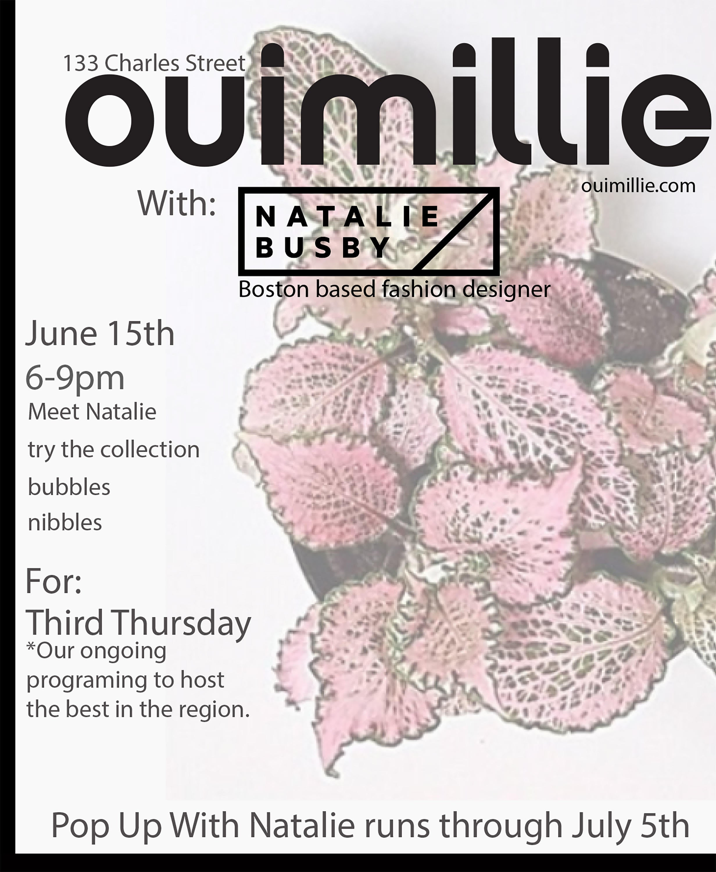 Ouimillie Pop-up in Boston