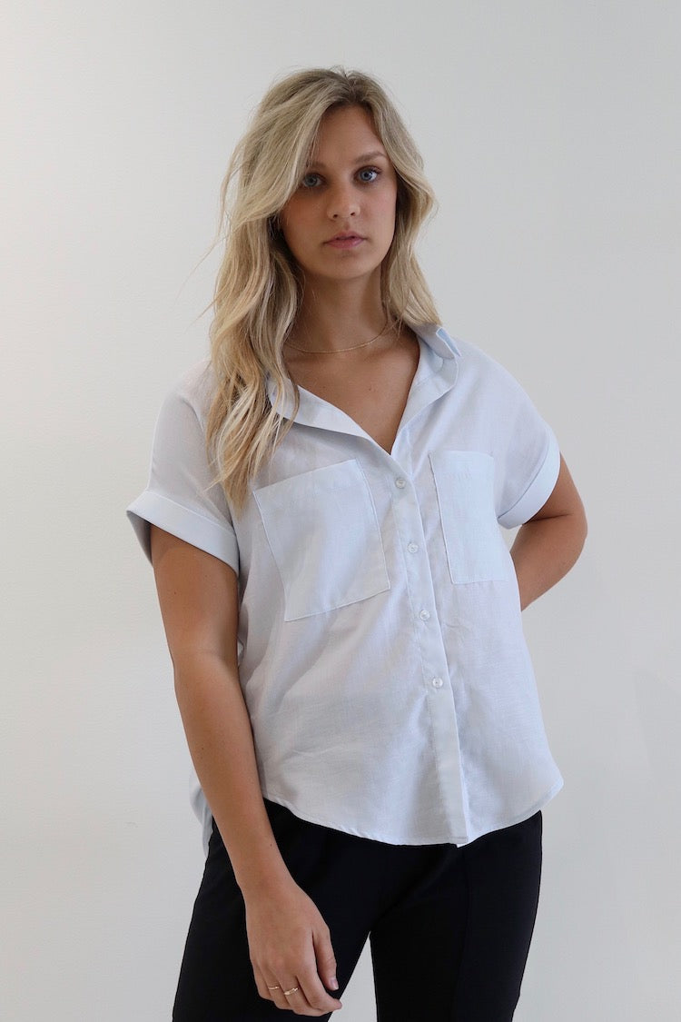 d55b04ff Boxy Button Up-White - Natalie Busby