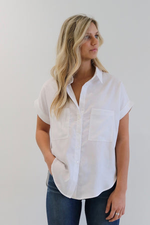 Natalie Busby Boxy Button-Up Shirt. Made in Nashville
