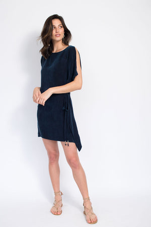 Flutter Tie Dress - Cupro