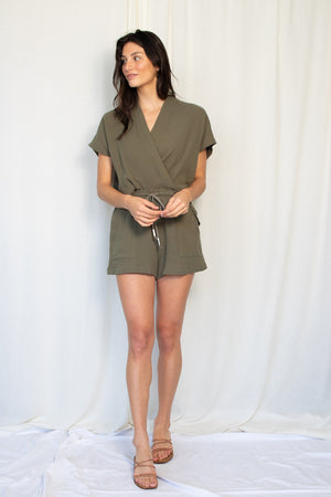 Summer Short - Cotton Gauze - Moss