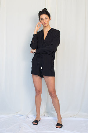 Drawstring Short - Tencel Viscose - Black