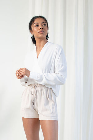 Twist Blouse - Tencel Viscose - White