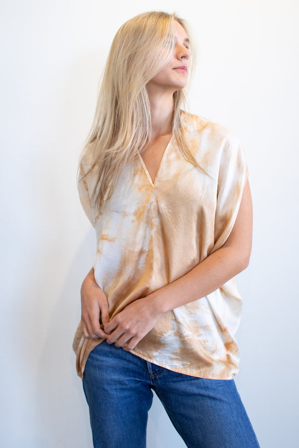 Cascade Top - Limited Edition Natural Dye Terracotta